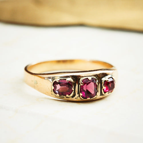 Antique Victorian Almandine Garnet Ring