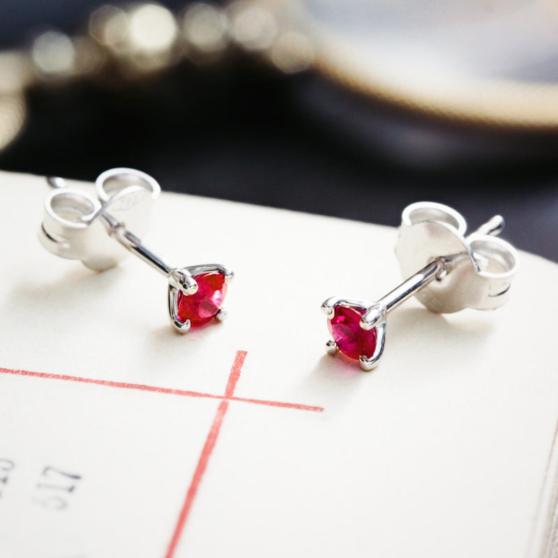 Ravishing Ruby Stud Earrings