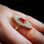 Mesmerising Marvellous Marquise Ruby & Diamond Ring