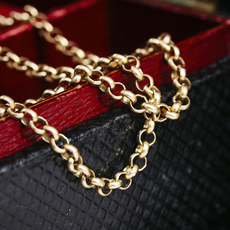 Victorian Styled 9ct Gold Belcher Link Chain Necklace