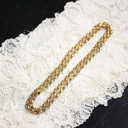 Classic 9ct Gold Round Belcher Link Chain Necklace