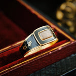 'IN MEMORY OF' Date 1830 Enamelled Mourning Ring