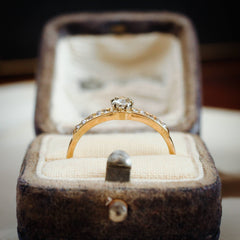 A Dreamy Vintage Diamond Solitaire Engagement Ring