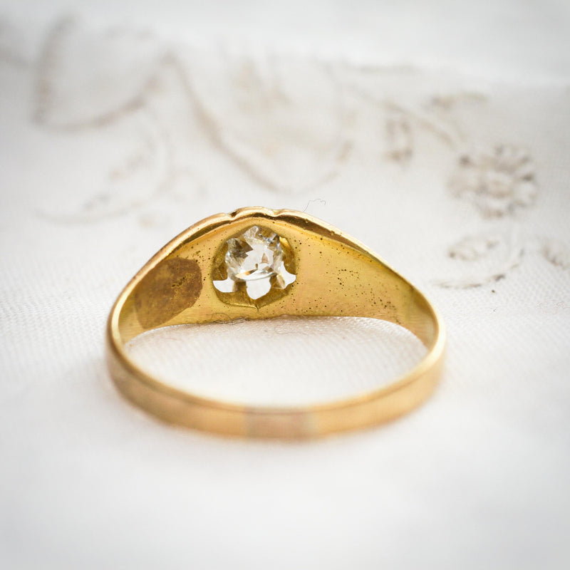 Classic Antique Old Cut Diamond Solitaire Ring