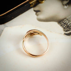 Especially Pretty Vintage Gold Twist Diamond Ring