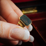Noble Circa 1900 Arts & Crafts 18ct Gold Heliotrope Gent's Ring