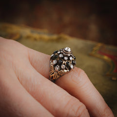 Captivating Vintage Black Star Sapphire Thai Princess Harem Ring