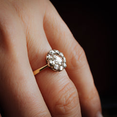 Oh Perennial Perfection!! A Ravishing Antique Rose-cut Diamond Cluster Ring