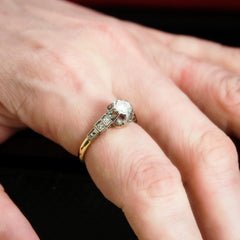 Oh Fascinating Attraction! Dramatic Art Deco Diamond Engagement Ring