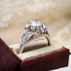 Coveted Vintage Art Deco Diamond Engagement Ring