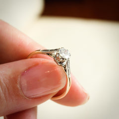 Vintage 0.45ct Brilliant-cut Diamond Solitaire Engagement Ring