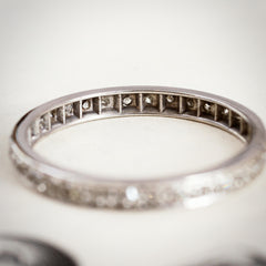 Fine Vintage Hand Cut Diamond Full Eternity Ring