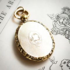 Ornamental Acanthus Mid Victorian Picture Locket