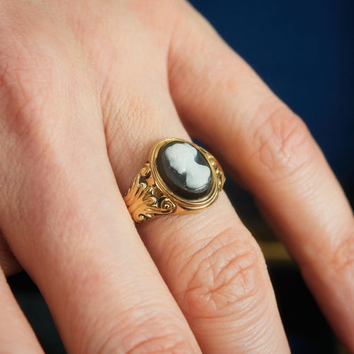 Classical Antique Hardstone Cameo Ring