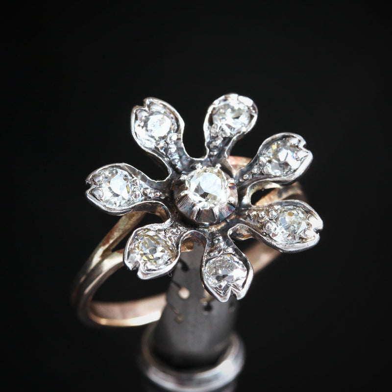 An Exuberant Floral Diamond Dress Ring