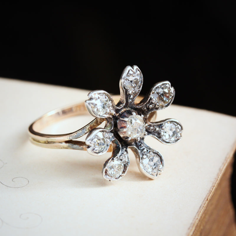 Floral Diamond Dress Ring