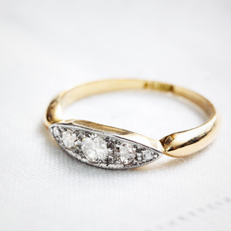Twinklesome Antique Edwardian Five Stone Diamond Ring