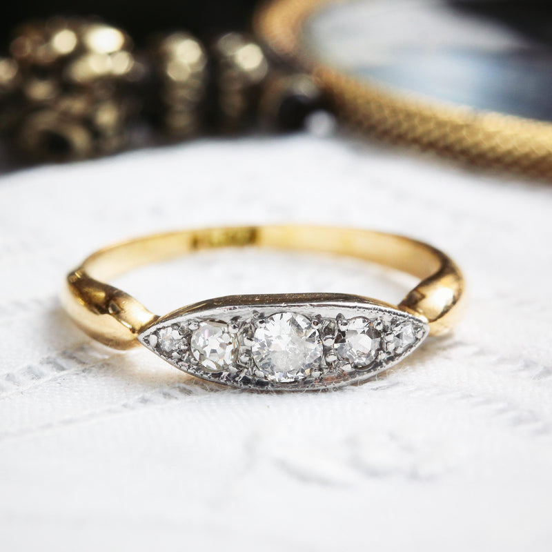 Antique Edwardian Five Stone Diamond Ring
