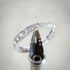 Vintage Size 'R' White Gold & Paste Full Eternity Ring