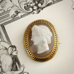 Majestic Superior Quality Antique Hardstone Cameo Brooch