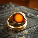 Impressive Date 1922 Gents 15ct Gold Sardonyx Signet Ring