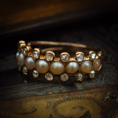 Antique Victorian Pearl Diamond Ring