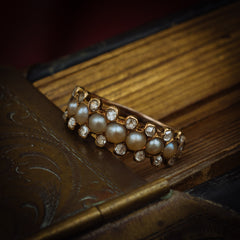 Antique Georgian Pearl Diamond Ring