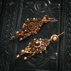 Antique French Filigree Earrings