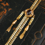 Amazing Vintage 14K Gold Slider Long Guard Chain