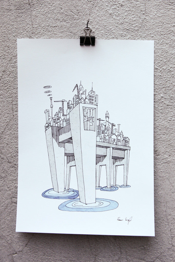 The City on Cement Stilts (Byen paa Betonstylter)