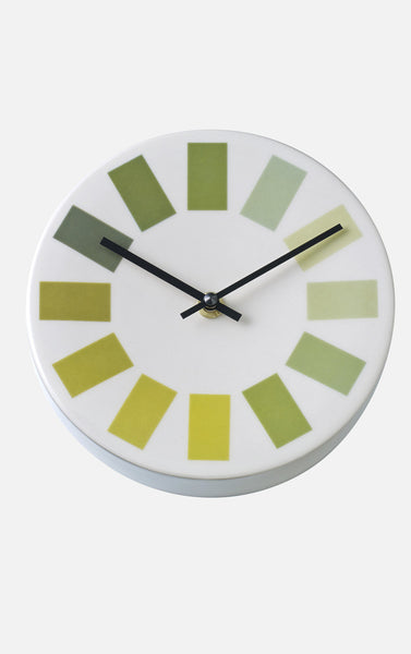 Hours Clock - Green Scale