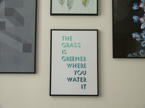 The Grass is Greener Where You Water it