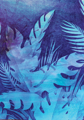 Blue Jungle Scene (A3)