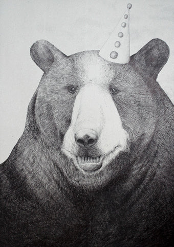 Bear Wearing a Hat (A3)