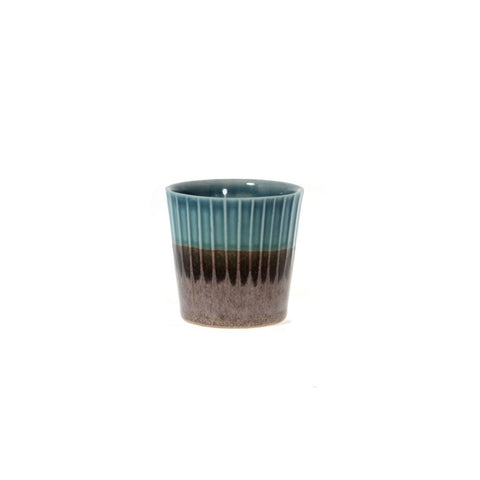 Clib Klap Espresso Cup (blue/brown)