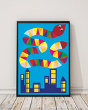 Snake on City (50x70 cm)