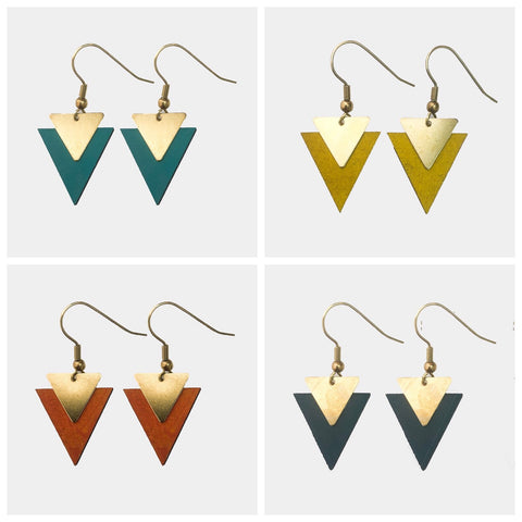 Mollie Brown Triangle Dangle Earrings