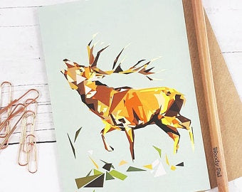 Illustrated Greeting Card - Stag