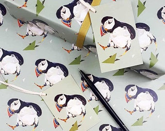 Gift Wrap Set - Puffin