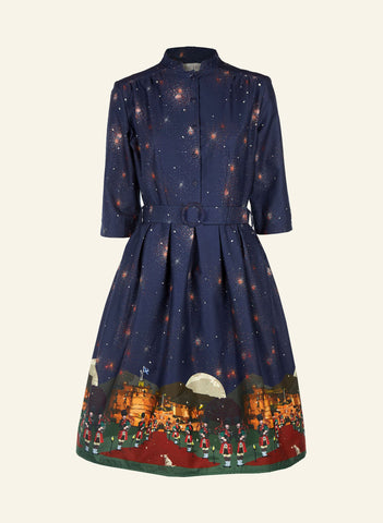 Cynthia Organic Cotton Edinburgh Castle Dress