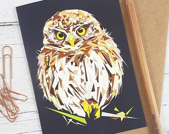 Illustrated Greeting Card - Little Owl