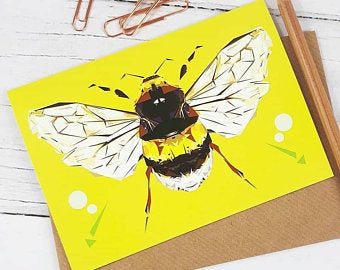 Illustrated Greeting Card - Bee