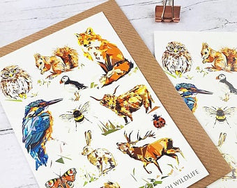 Illustrated Greeting Card - British Wildlife
