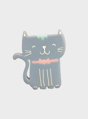 Fancy Flat Cat Brooch - Godiva Boutique
