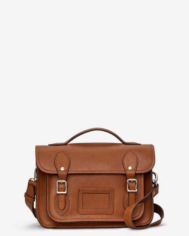 Dewhurst Leather Satchel - Brown - Godiva Boutique