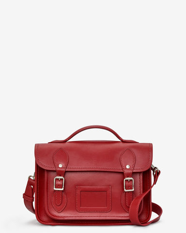 Dewhurst Leather Satchel - Red - Godiva Boutique