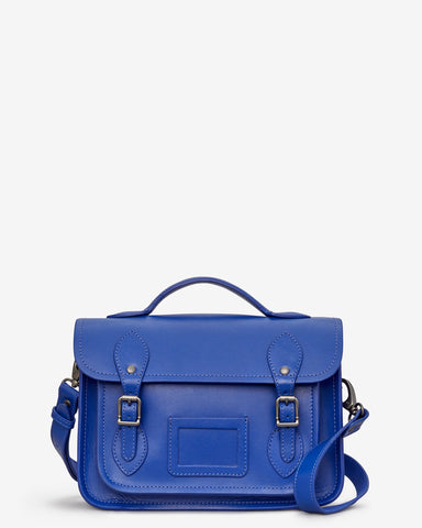Dewhurst Leather Satchel - Cobalt Blue - Godiva Boutique