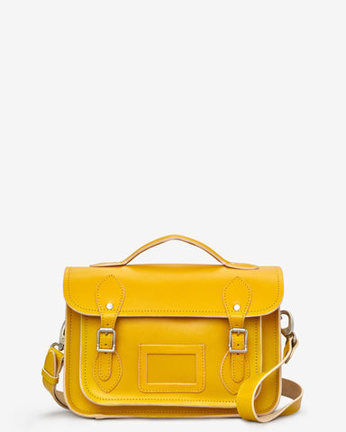 Dewhurst Leather Satchel - Mustard - Godiva Boutique