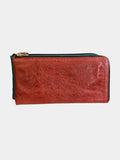 Leather Wallet Purse - Red - Godiva Boutique