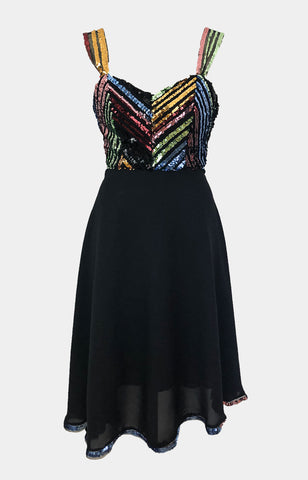 Sequin Chevron Dress - Godiva Boutique